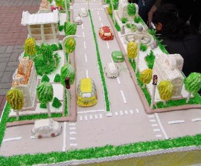 Фото торта на день города женский